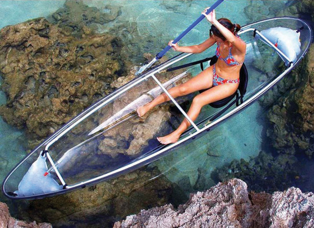 translucent kayak