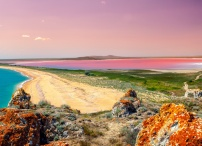 Pink Lake in Western Australia