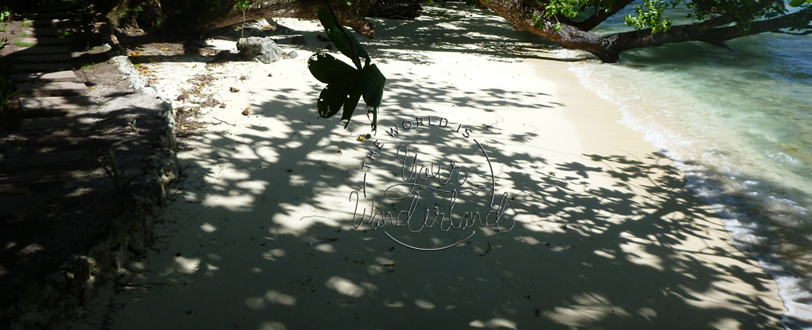 Beach Pathway with Logo on Sand