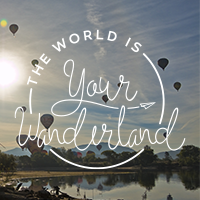 The World is Your Wanderland Square Facebook Pic