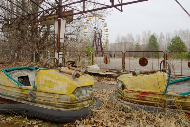 Abandoned Dodgem Cars in Pripyat