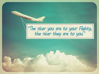 Be nice to cabin crew